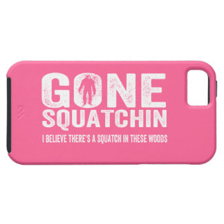 GONE SQUATCHIN  Choose your Color Grunge Text Tough iPhone 5 Case