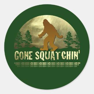 Gone Squatchin' Classic Round Sticker