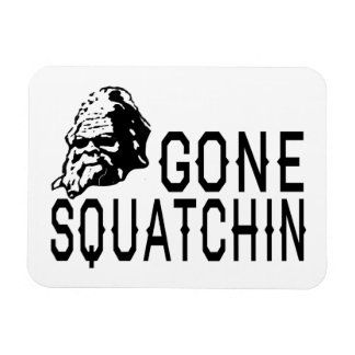 Gone Squatchin - Cool Sunglass Version B&W Rectangular Photo Magnet