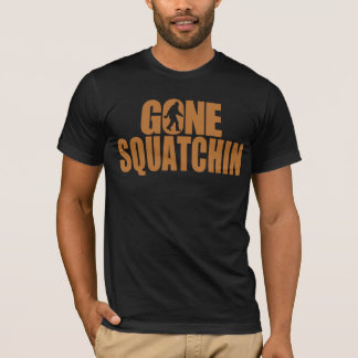 Gone Squatchin Copper and Black T-shirt