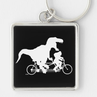 Gone Squatchin cycling with T-rex Key Ring