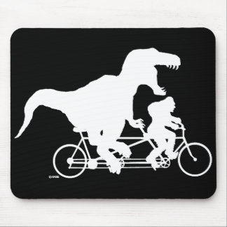 Gone Squatchin cycling with T-rex Mouse Pad