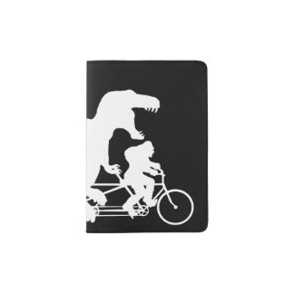 Gone Squatchin cycling with T-rex Passport Holder