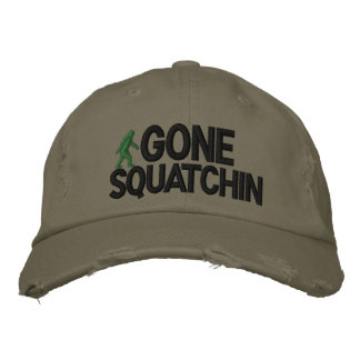 Gone Squatchin Deluxe version Embroidered Hat
