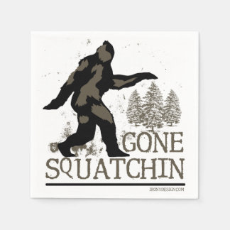 Gone Squatchin Disposable Serviette