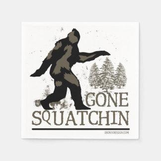 Gone Squatchin Disposable Serviette