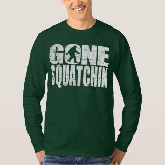Gone Squatchin Distressed Design T-shirt