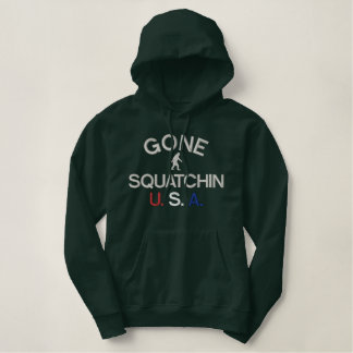 Gone Squatchin embroidered logo Embroidered Hooded Sweatshirt
