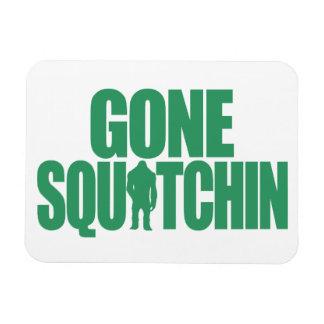 Gone Squatchin Rectangular Photo Magnet