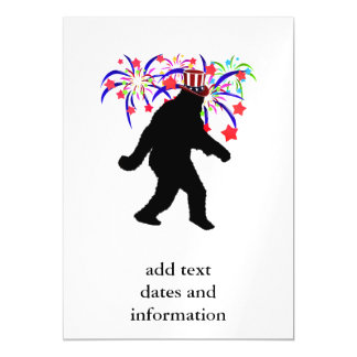 Gone Squatchin for 4th of July Fireworks Magnetic Invitations
