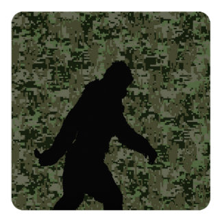Gone Squatchin For on Olive Digital Camouflage 13 Cm X 13 Cm Square Invitation Card