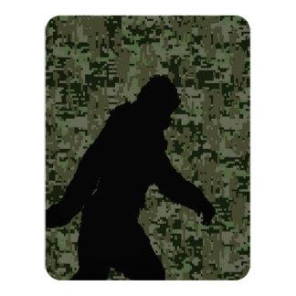 Gone Squatchin For on Olive Digital Camouflage 11 Cm X 14 Cm Invitation Card