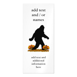 Gone Squatchin for Thanksgiving Turkey Magnetic Invitations