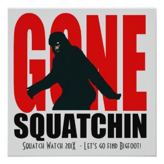 Gone Squatchin Funny  Bigfoot Hunting Invitation