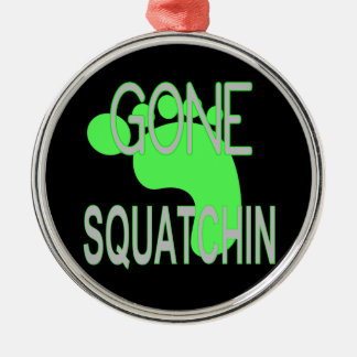 Gone Squatchin Gifts Silver-Colored Round Decoration