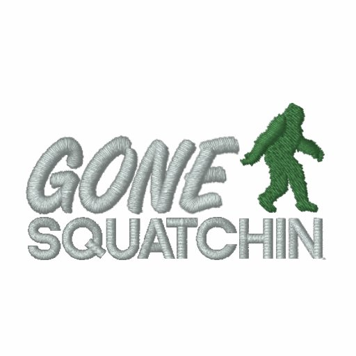 Gone Squatchin - Gray and Green stitching