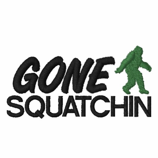 Gone Squatchin, Green and Black Stitching