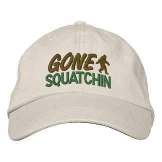 Gone Squatchin - Green & Brown Baseball Cap