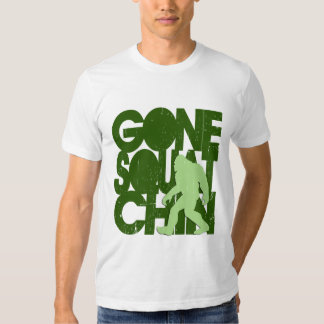 Gone Squatchin' - Green Distressed Tshirts