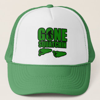Gone Squatchin green footprints Trucker Hat