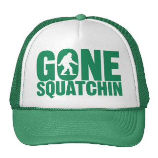 Gone Squatchin Green Letters Hat