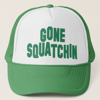 Gone Squatchin Green Mesh Snap Back Trucker Hat