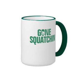 Gone Squatchin - Green Silhouette Ringer Mug