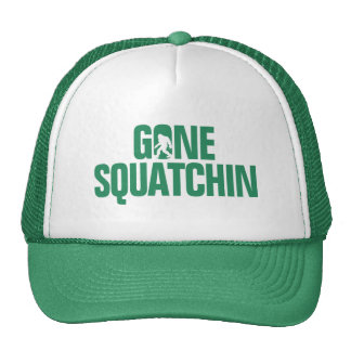 Gone Squatchin - Green / White Silhouette Hats