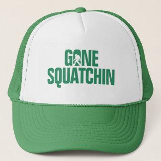 Gone Squatchin - Green / White Silhouette Trucker Hat