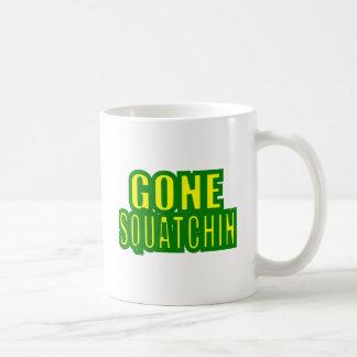 Gone Squatchin Green /Yellow Coffee Mugs