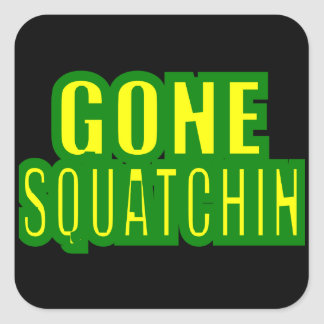 Gone Squatchin Green /Yellow Square Sticker