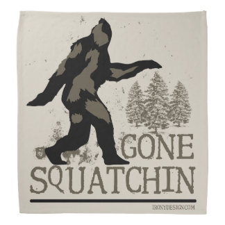 Gone Squatchin Head Kerchief