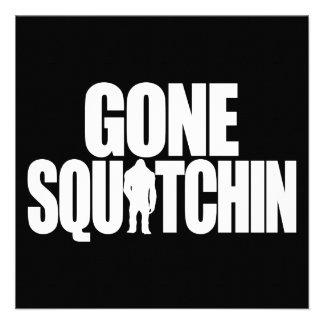 Gone Squatchin Custom Invitation