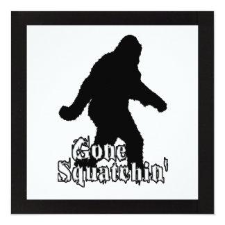 Gone Squatchin' 13 Cm X 13 Cm Square Invitation Card