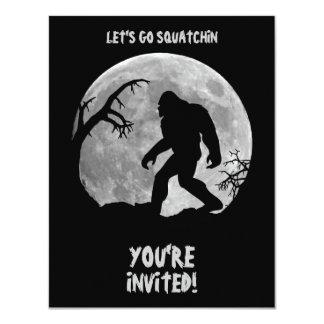 Gone Squatchin 4.25x5.5 Paper Invitation Card
