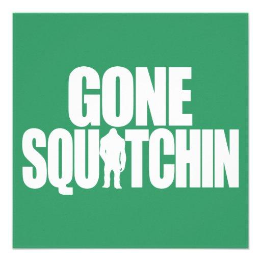 Gone Squatchin Custom Invitations