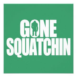 Gone Squatchin Personalized Invites
