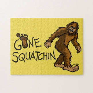 Gone Squatchin Jigsaw Puzzle