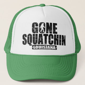 Gone Squatchin LOUISIANA Sasquatch Hat -distressed