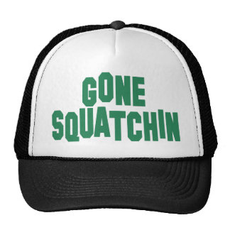 Gone Squatchin Mesh Trucker Hat (green and black)