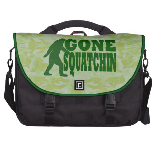 Gone Squatchin on green camouflage Commuter Bag