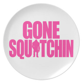Gone Squatchin Party Plates