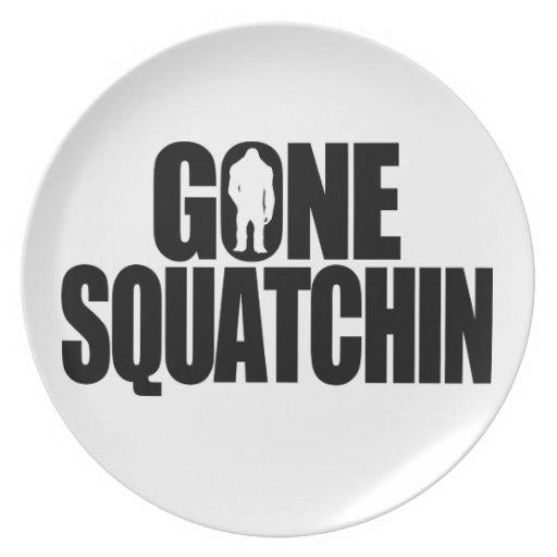 Gone Squatchin Dinner Plates
