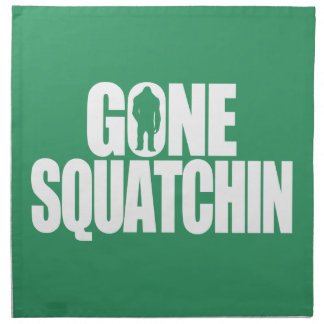 Gone Squatchin Printed Napkin