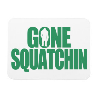 Gone Squatchin Rectangular Photo Magnet