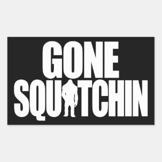 Gone Squatchin Rectangular Sticker
