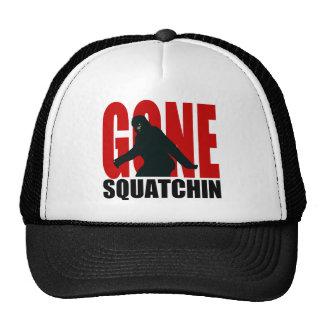 Gone Squatchin (Red & Black) Trucker Hats