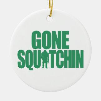 Gone Squatchin Round Ceramic Decoration