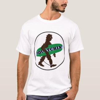 Gone Squatchin' Surfing Bigfoot T-Shirt