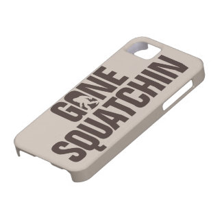 Gone Squatchin tan and brown iPhone 5 Case